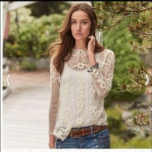 FINAL PRICE  Sundance embroidered lace top